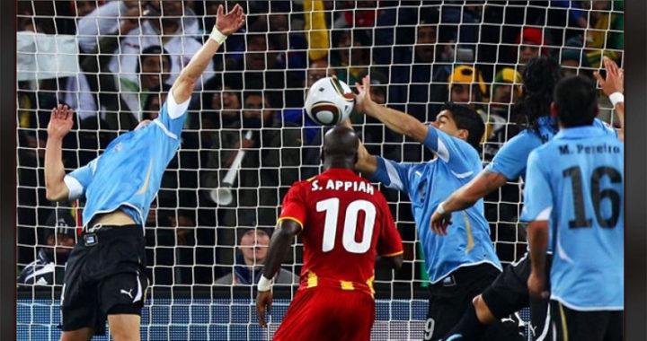 2 июля 2010 года Луис Суарес вынес мяч рукой из собственных ворот, став самым ненавидимым игроком ЧМ-2010