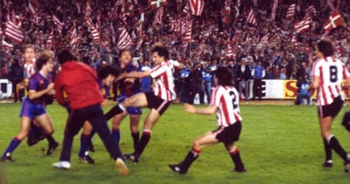 В последнем матче за «Барсу» Марадона устроил побоище. Между каталонцами и басками была война